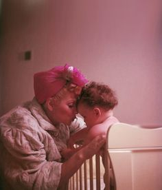 I love Lucy! Lucille Ball and daughter Lucie at their home, 1952