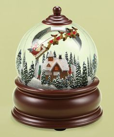 Love this Santa Town Scene Musical Dome on #zulily! #zulilyfinds
