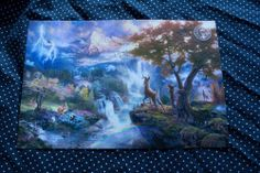 Thomas Kinkade Disney Bambi's First Year 8x12 Print | eBay $35