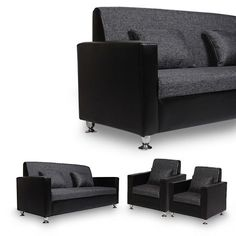 Arra Tulip Sofa Set Black - Add oodles of style to your home with an exciting range of designer furniture, furnishings, decor items and kitchenware. We promise to deliver best quality products at best prices.