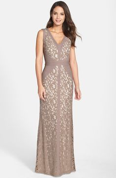 Lace & Jersey Gown (Regular & Petite)