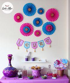 Ideas para Cumpleaños: 80 ideas para decorar cumple de Shimmer y Shine Baby Birthday, Birthday Party Themes, Shimmer And Shine Decorations, Shimmer Y Shine, Diwali Decorations, Party Activities, Diy Party, Party Ideas, Party Planning