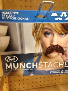 Edible Moustaches? Eating and Facial Hair - two of the finer things in life but together? Heavens No!