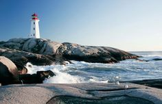 Nova Scotia, Canada- This is the lighthouse on Peggy's Cove. Been here many times, very old quaint village. Vacation Places, Dream Vacations, Vacation Spots, Places To Travel, Nova Scotia Tourism, Oh The Places You'll Go, Places To Visit, Wonderful Places, Beautiful Places
