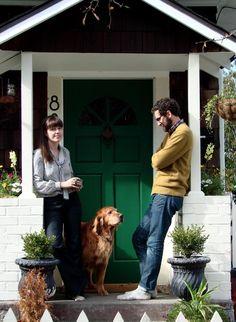 green front door!