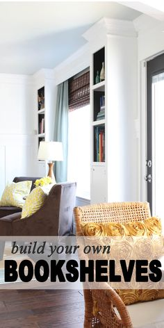 Built in Bookcase Easy to follow Instructions remodelaholic.com #bookcases #DIY #plans