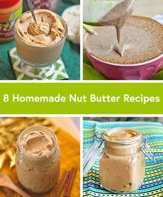 Great ideas for homemade nut butters. All would make a great snack with cut up vegetables or fruit, and would also make for great nut-butter sandwiches!
