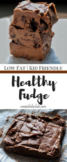 With low calories this is an easy healthy fudge recipe. Made with coconut oil banana peanut butter and chocolate its super simple. Simple Snacks, Healthy Snacks For Kids, Healthy Dessert Recipes, Easy Desserts, Delicious Desserts, Snack Recipes, Healthy Sweets, Eating Healthy, Healthy Food