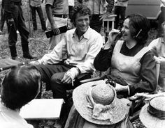 """Clint Eastwood and Geraldine page on the set of """"The Beguiled"""". I'll never forget this movie."""