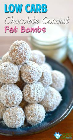 Chocolate Coconut Fat Bombs - use maple syrup or honey instead of stevia, and carob powder instead of cocoa powder for AIP