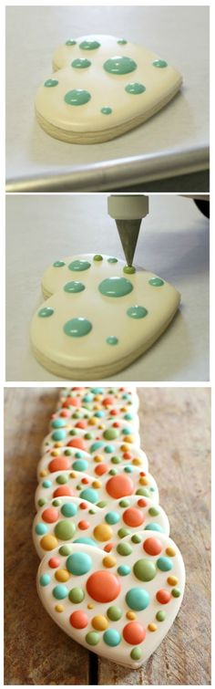 Easy Polka Dot Heart Cookies