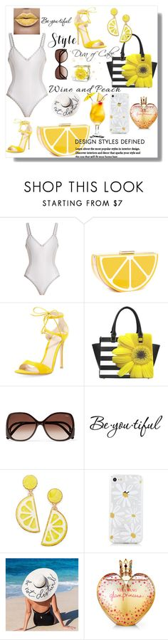 """""""Sexy summer  outfit"""" by kercey ❤ liked on Polyvore featuring kiini, Gianvito Rossi, Chloé, Schone, Celebrate Shop and Vera Wang"""