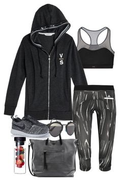 """""""Untitled #3353"""" by olivia-mr ❤ liked on Polyvore featuring Victoria's Secret, adidas, Linea Pelle, NIKE and Christian Dior"""