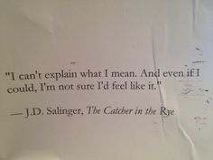 from the catcher in the rye!
