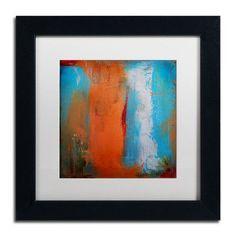 "Trademark Art 'Orange Swatch' by Nicole Dietz Framed Painting Print Size: 11"" H x 11"" W x 0.5"" D"