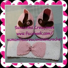 Zapatitos y vincha en #crochet