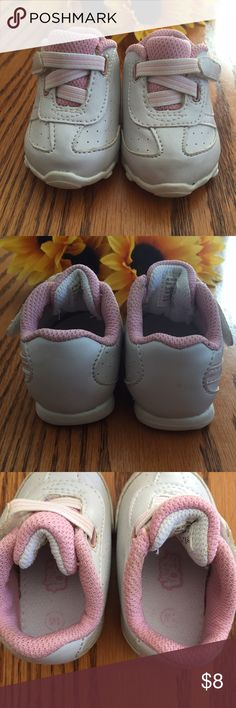 Tiny toes pink and white sneakers. Size 1W Tiny toes pink and white sneakers. Size 1W. Worn once.  Velcro closure Shoes Sneakers