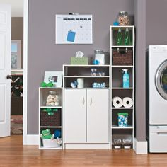 """*Group table storage (maybe without doors, find cheaper) 31.5 """" H x 12.0 """" W x 24.0 """" D $32.49 Target ClosetMaid 2 Door Organizer White"""