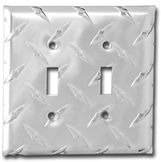 Double Toggle Diamond Plate Wall Plate