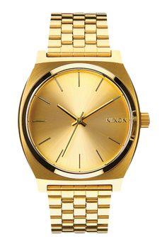 Nixon Time Teller dourado