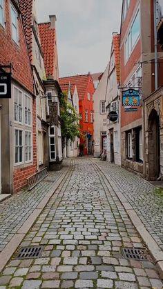 Germany, Comic, Walks, Bremen, Cozy Cafe, Little Houses, Old Town, Tourism, Tours