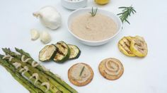 YumElish Rosemary & Garlic SkinEdip Gourmet Bean Dip with fresh grilled veggies.