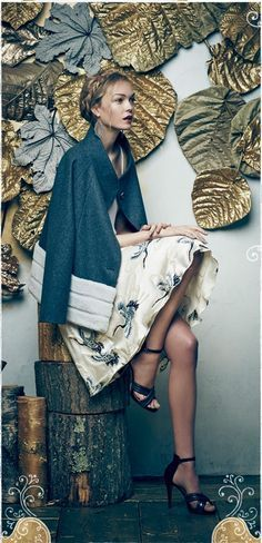 Party Wall Idea...Anthropologie catalog december 2014
