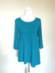 Asymetrical Hem Button Tunic $24 in store at Kali Rose Boutique