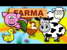 Farm Animals for kids - Learn animals - Animals voices Youtube, Nature, Speech Language Therapy, Naturaleza, Nature Illustration, Off Grid, Youtubers, Youtube Movies