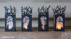DIY Paper Lanterns for Halloween Decorations