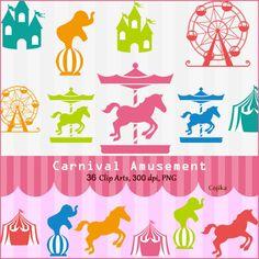 carnival ferris wheel clip art | Carnival Fun Clip Art Set ...