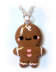Polymer Clay Charm~gingerbreadman (or woman) need to make something out of clay and make jewelry.