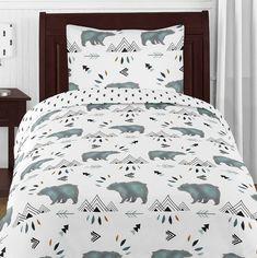Woodland Room, Rustic Bedding, Woodland Theme Bedroom, Toddler Bed Comforter, Comforter Sets, Boy Bedding, Camping Bedroom, Boys Hunting Bedroom, Child Room