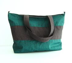 Sale 10% - Water-Resistant Gym Bag in Dark Teal - diaper bag, laptop bag, beach bag - HAPPY TOTE. $32.00, via Etsy.