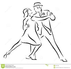 Silhouette Of Tango Dancers Over White Background - Download From Over 43 Million High Quality Stock Photos, Images, Vectors. Sign up for FREE today. Image: 22817994