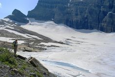 Grinnell Glacier, Glacier National Park Picture: The glacier peaking out from under the snow - Check out TripAdvisor members' 7,127 candid photos and videos of Grinnell Glacier