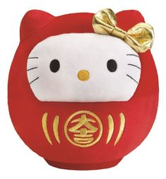 Bubbly Day Hello Kitty Daruma doll plush toy comes with the collector's edition at McDonald's Hong Kong
