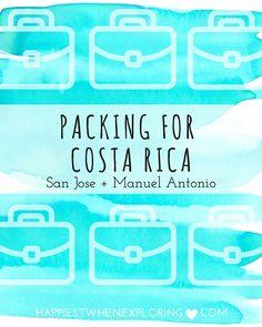 Packing for Costa Rica: San Jose and Manuel Antonio // at happiestwhenexploring.com