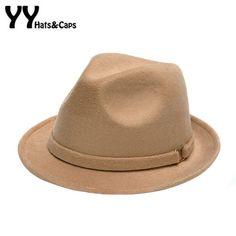 Retro Wool Fedoras Hats for Women Men Winter Felt Hat Autumn Panama Trilby Jazz Cap Mans Fedoras Hat Sombreros 6 Colors Fedora Hat Women, Retro Men, Felt Hat, Mens Caps, Hats For Women, Wool Hats, Mens Fashion, Ali, Moda Masculina