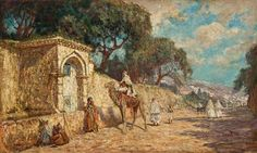 Addison Thomas Millar (American, 1860–1913) Title: A Street Scene in Algiers