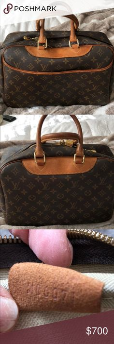 Authentic Louis Vuitton Deauville bag Authentic Louis Vuitton Deauville bag . Excellent Condition, inside clean . Pre- loved perfect ! Date code in pic . Posh will authenticate anything over 500 ship with confidence! Guaranteed Authenticity. Has lock and two keys . Louis Vuitton Bags Satchels