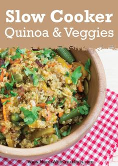 Enjoy this delicious Slow Cooker Quinoa and Vegetables recipe! It is very easy to throw together and you will have a great side dish in no time! http://momswithcrockpots.com/2013/07/crock-pot-quinoa-and-vegetables/