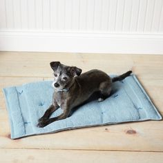 Dogs will love the comfort of this soft bed made from towels; you'll love the convenience. It's lightweight, easy to roll up and pack, and even machine-washable.