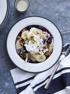 Coconut Quinoa Porridge from Bluestone Lane Collective in NYC #myopenkitchen