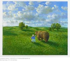 2015 // Girl with Bear - Michael SowaMichael Sowa (born 1945) is a German artist known mainly for his paintings, which are variously whimsical, surreal, or stunning.More Pins Like This At FOSTERGINGER @ Pinterest