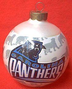 HALLMARK KEEPSAKE CAROLINA PANTHERS NFL TEAM GLASS ORNAMENT ~1995