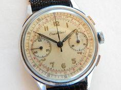 Vintage Ernest Borel Swiss Chronograph Watch -1940's