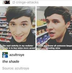 YEAH! THAT SOMEONE NEEDS TO carry on because dan's reaction to it is the best thing