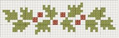 Holly Border pattern from Threadwork Primitives (Nan): Christmas Creations Xmas Cross Stitch, Cross Stitch Borders, Cross Stitch Samplers, Cross Stitch Flowers, Cross Stitch Charts, Cross Stitch Designs, Cross Stitching, Cross Stitch Embroidery, Cross Stitch Patterns