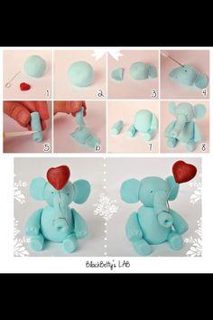 How to make a Fondant Elephant